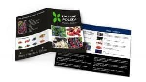 grafika - ulotka rozkładana Haskap